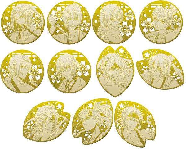 Hakuouki Metallic bookmarks