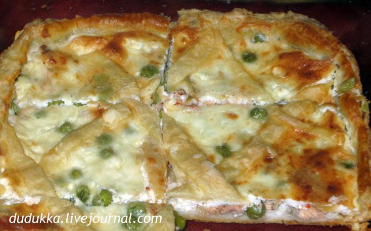 Пирог с слоеным тестом горбушей и картошкой рецепт с