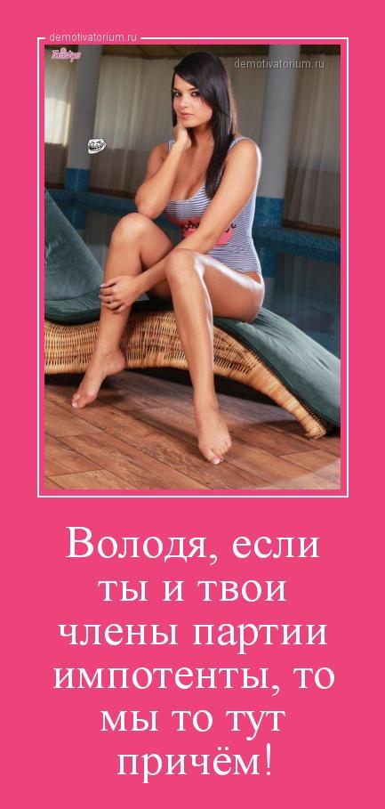 demotivatorium_ru_volodja_esli_ti_i_tvoi_chleni_partii_impotenti_to_mi_to_tut_prichem