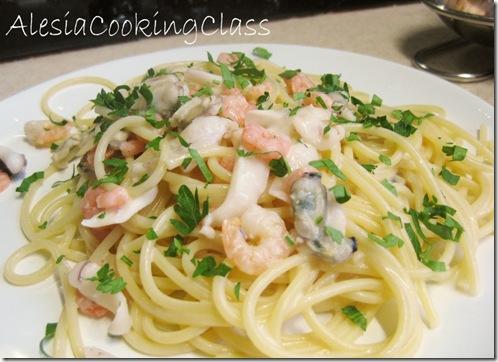 паста из морепродуктов в сливочном соусе рецепт