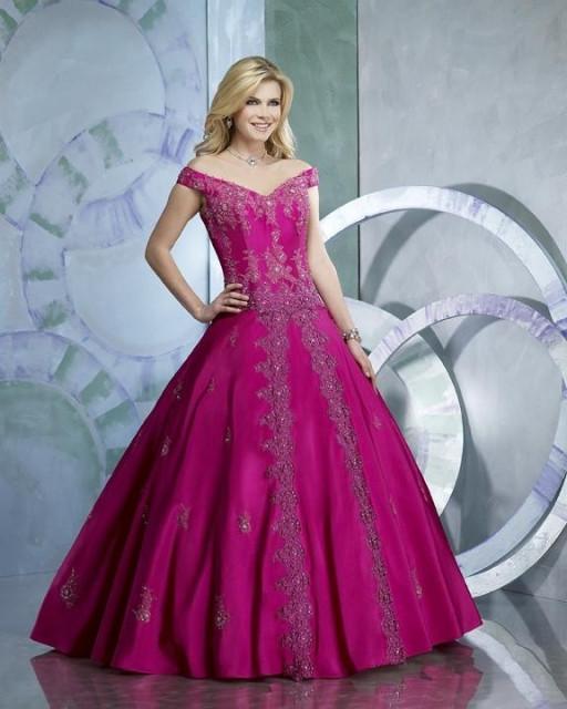 Свадебное платье фуксия