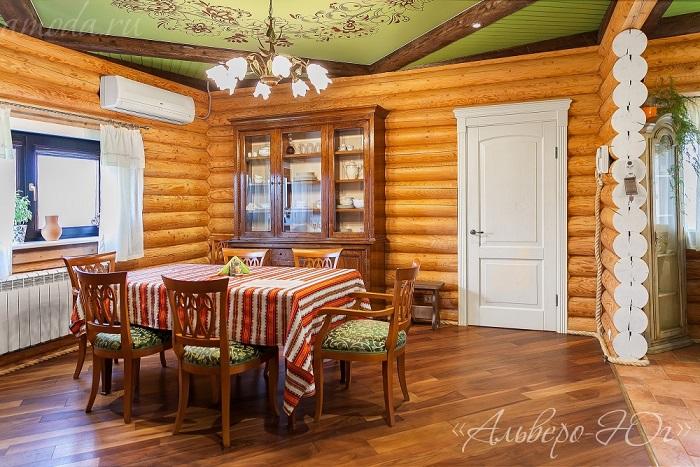 Интерьер дверей в деревянных домах фото