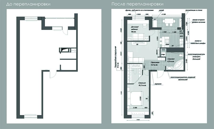 Как из двухкомнатной квартиры сделали трехкомнатную