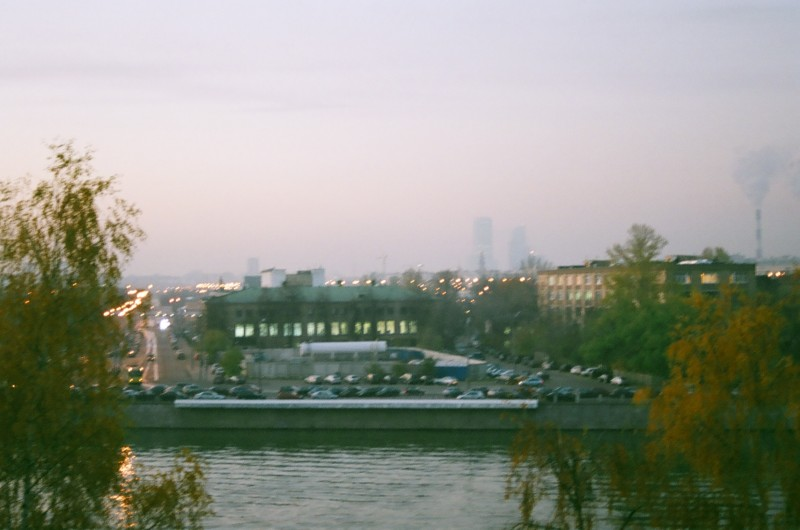 Вид на Лужники с Андреевских прудов