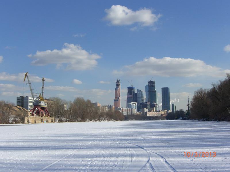 На льду Москвы-реки