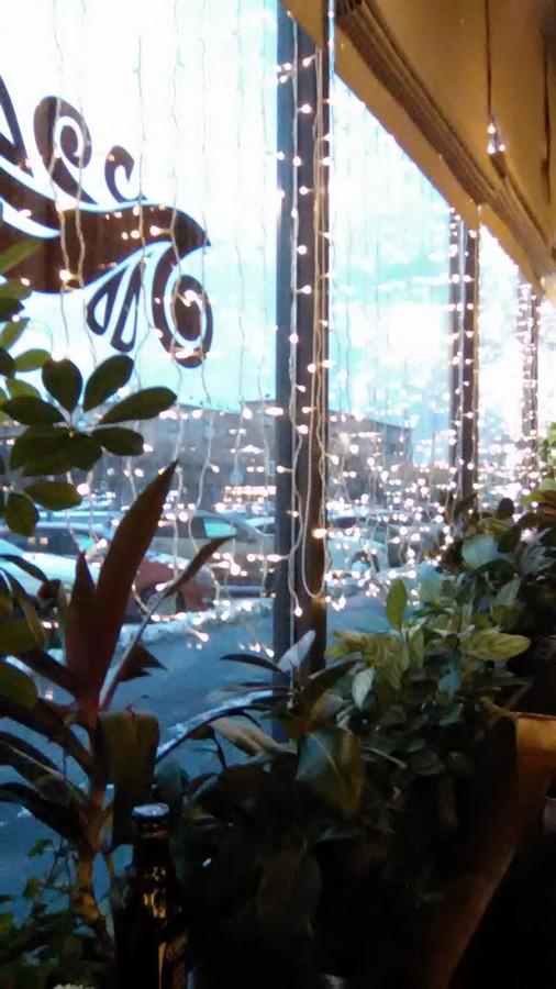 "Вид на Ленинский проспект из ресторана напротив универмага ""Москва"""