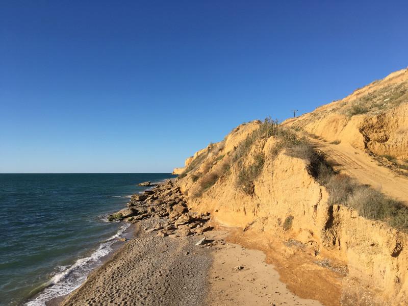 Подъём на высокий берег Чёрного моря