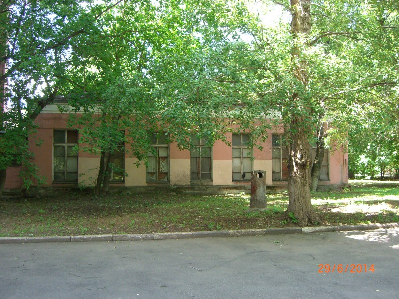 Деревья во дворе учебного заведения