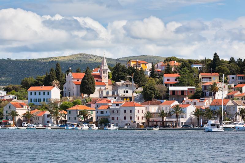dvoevnore.com: Панорама города Рогозница, Хорватия. Rogoznica, Croatia town view