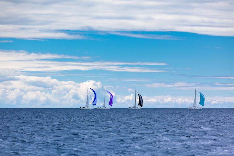 dvoevnore.com: Парусная регата в Адриатическом море, Хорватия. Yacht Regatta at the Adriatic Sea, Croatia