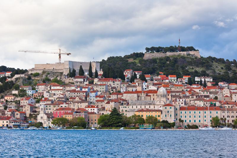 dvoevnore.com: Панорама города Шибеник, Хорватия. Sibenik, Croatia cityscape