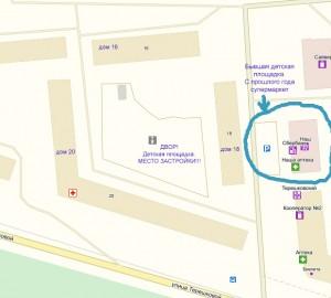 схема детской площадки под строительство МКД