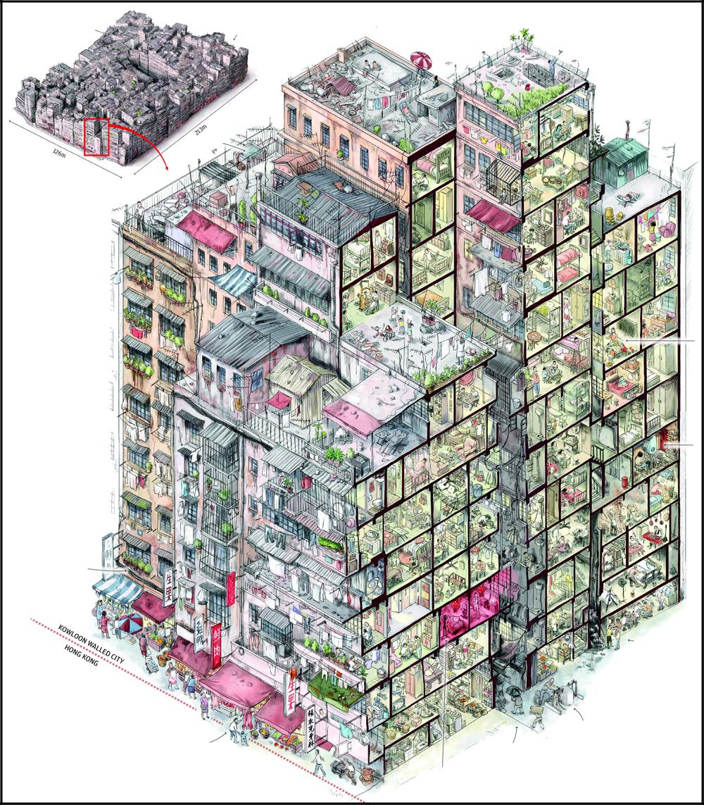 город-крепость Коулун Kowloon Walled City6