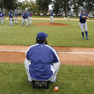 Eric Gagne Is the Laziest Man in Camp...