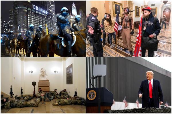 Январские кадры из США