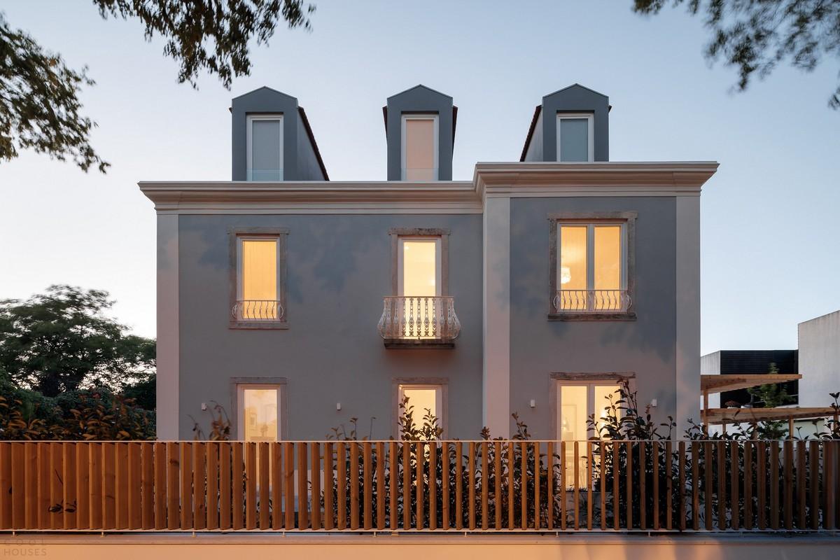 Преобразование старинного дома в современный семейный особняк в Португалии