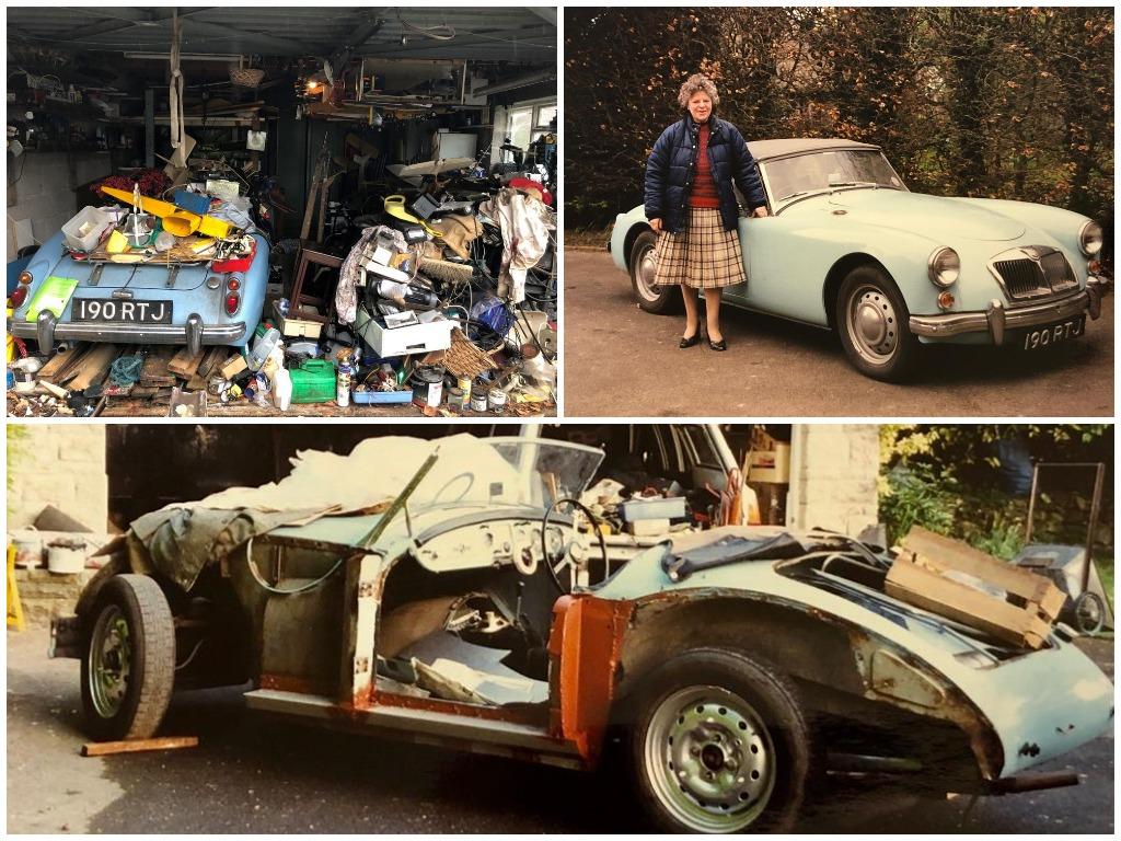 Похороненное сокровище: MG roadster 1960 года выпуска 20 лет простоял под кучей мусора в гараже
