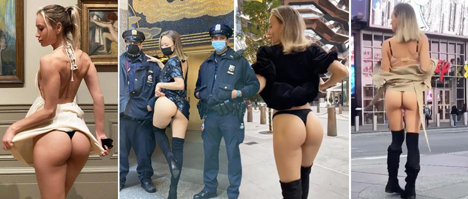 Россиянка стала звездой Instagram, показывая задницу на улицах Нью-Йорка