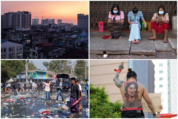 Февральские снимки из Мьянмы
