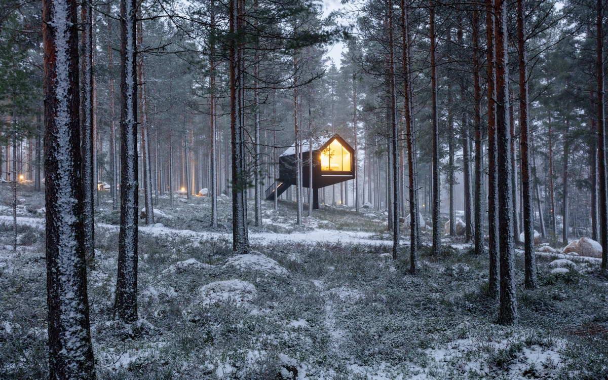 Домик для отдыха в лесу Финляндии