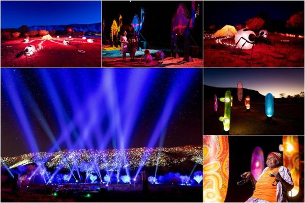 Parrtjima festival 2021: фестиваль световых инсталляций в Австралии