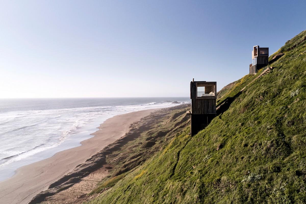 Домики для краткосрочного отдыха с видом на океан в Чили