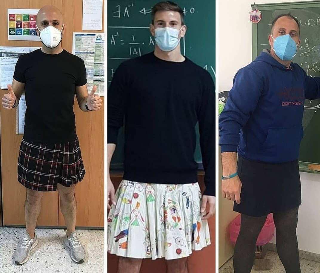 В Испании учителя-мужчины начали ходить на работу в юбках