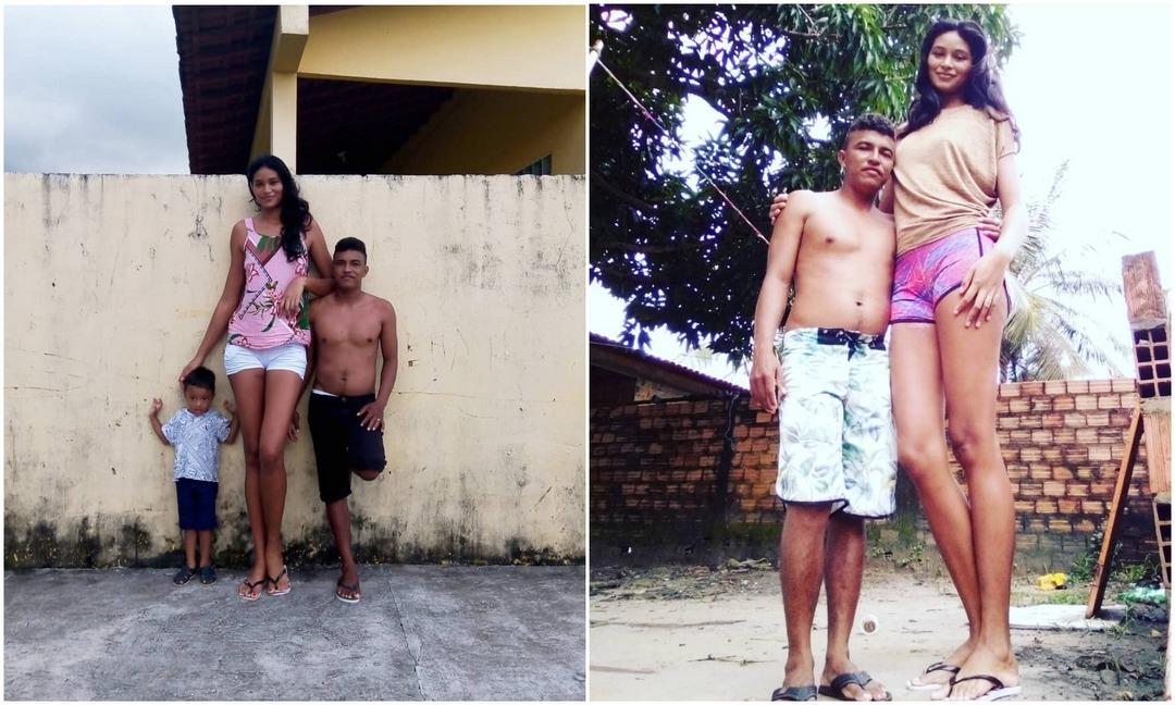 Двухметровая модель вышла замуж за мужчину, который ниже ее на 41 сантиметр
