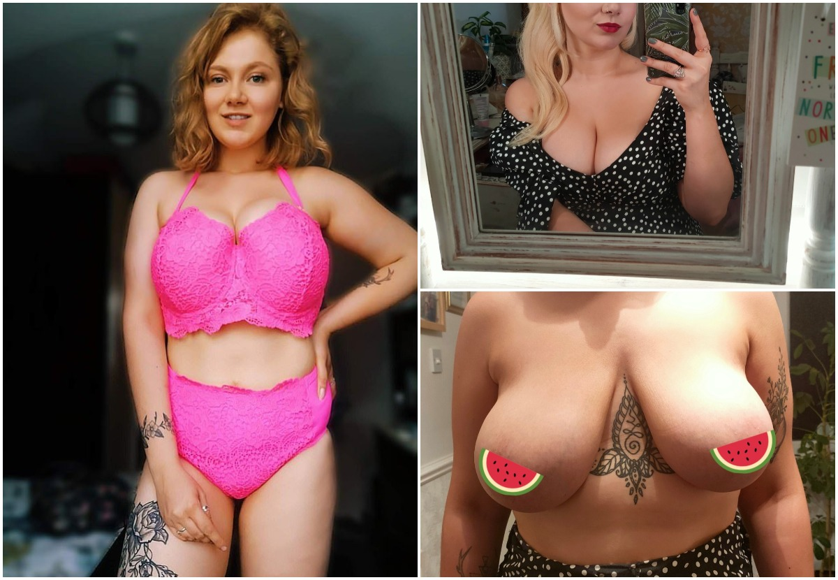 Мечтающей уменьшить грудь девушке предложили операцию в обмен на голое фото