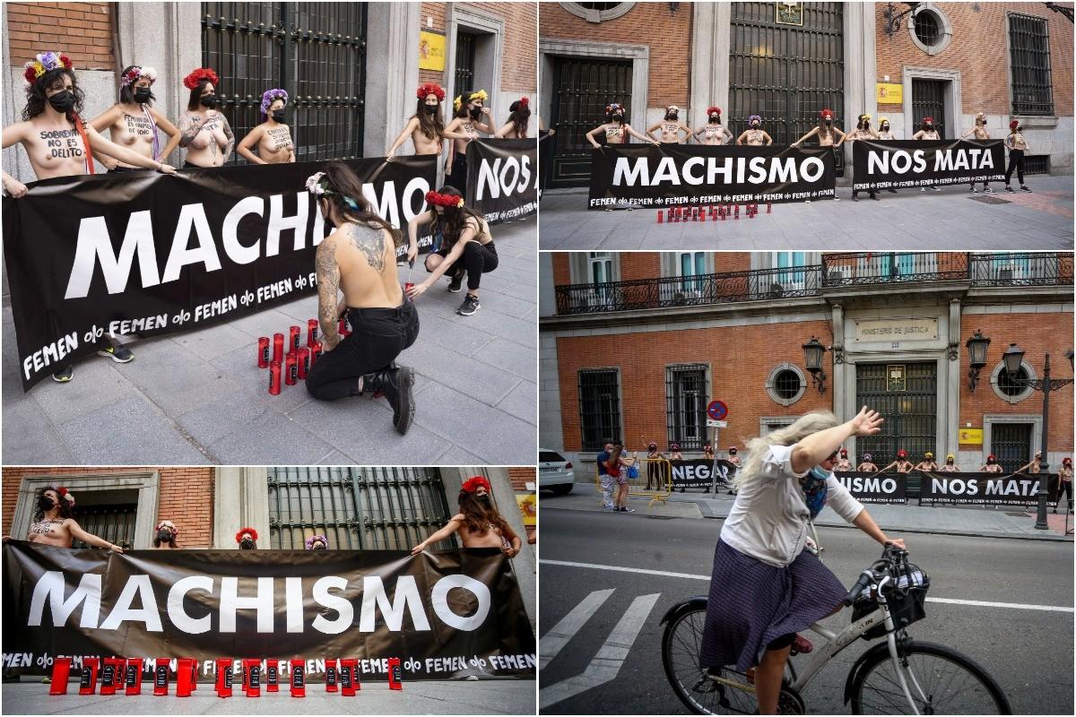 Топлес-протест Femen в Мадриде