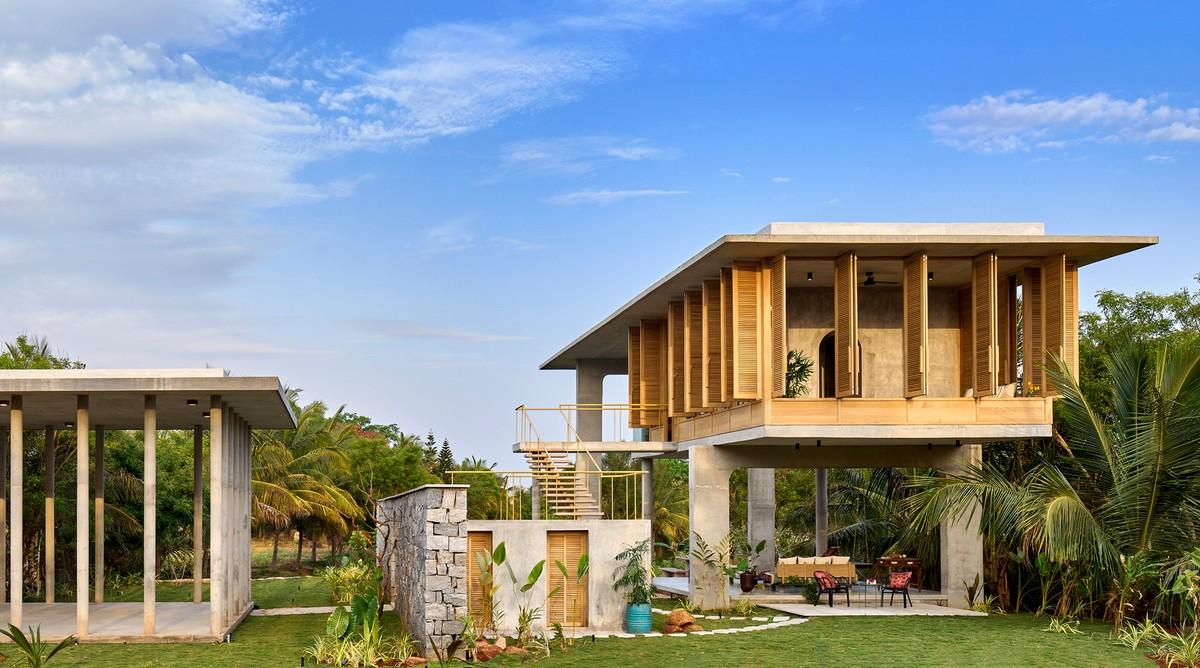 Загородный дом-курорт с многофункциональным павильоном в Индии
