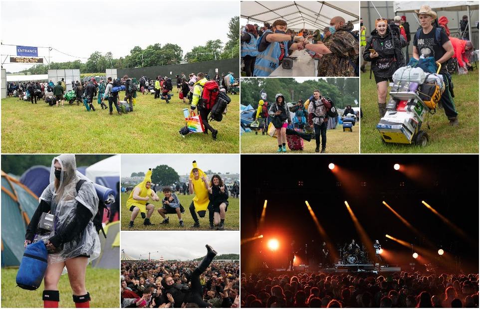 Тысячи людей собрались в Донингтон Парке на первый рок-фестиваль после снятия ограничений