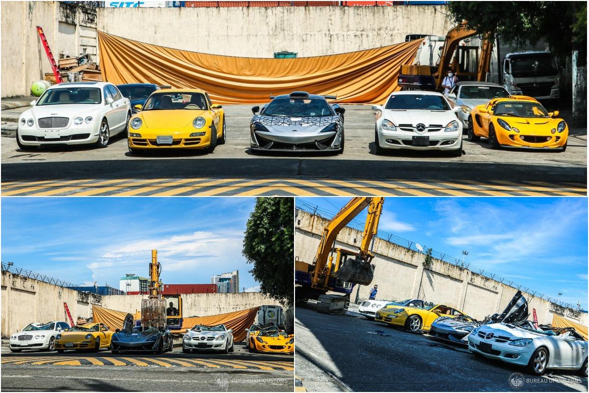 Власти Филиппин демонстративно раздавили 21 автомобиль общей стоимостью 1,2 млн долларов