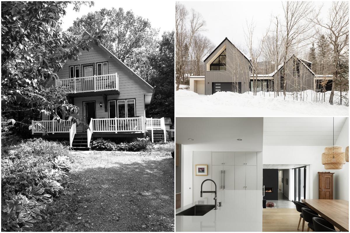 Расширение и преобразование старого шале в семейную резиденцию в Канаде