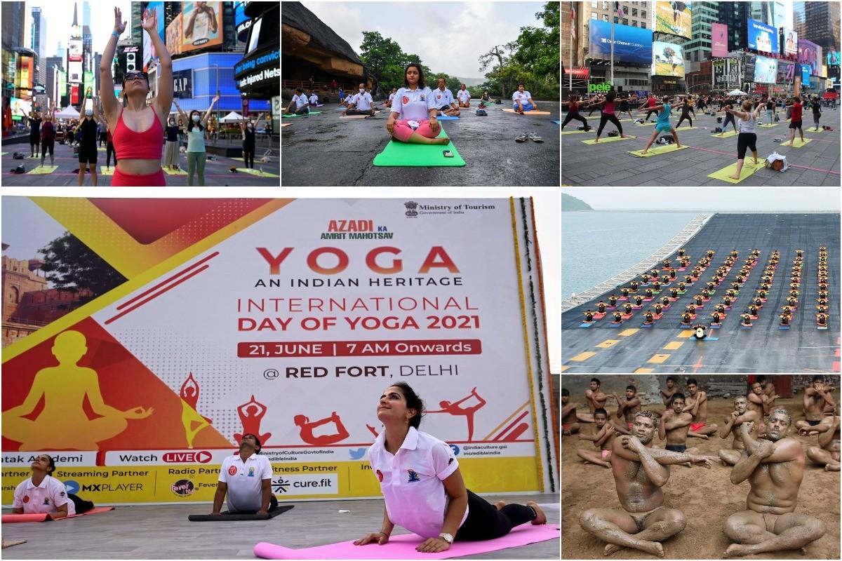 Лучшие фотографии празднования Международного дня йоги по всему миру