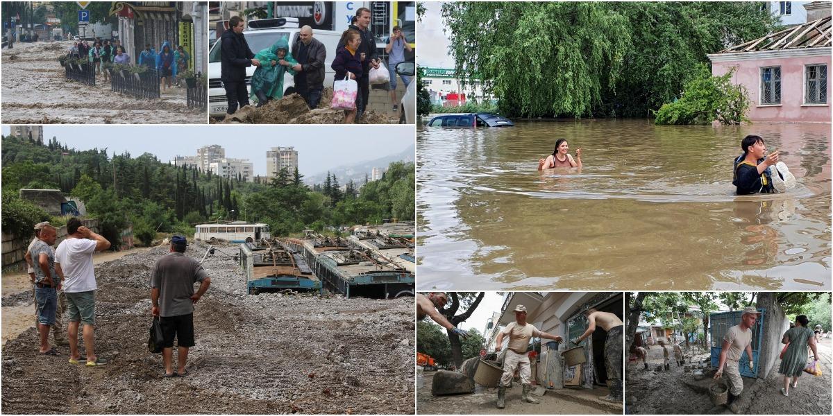 Российские военные ликвидируют последствия от наводнения в Крыму