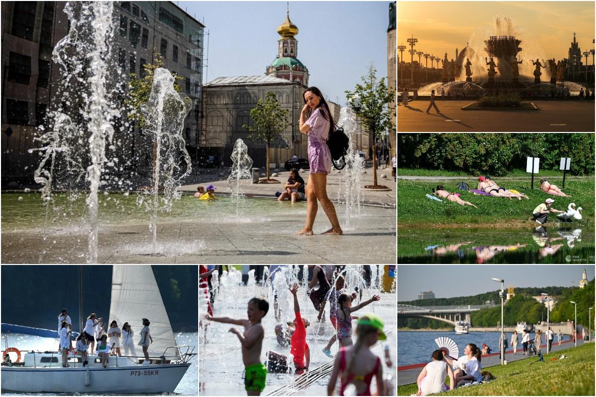 Тепловая волна накрыла Москву рекордными за 120 лет температурами