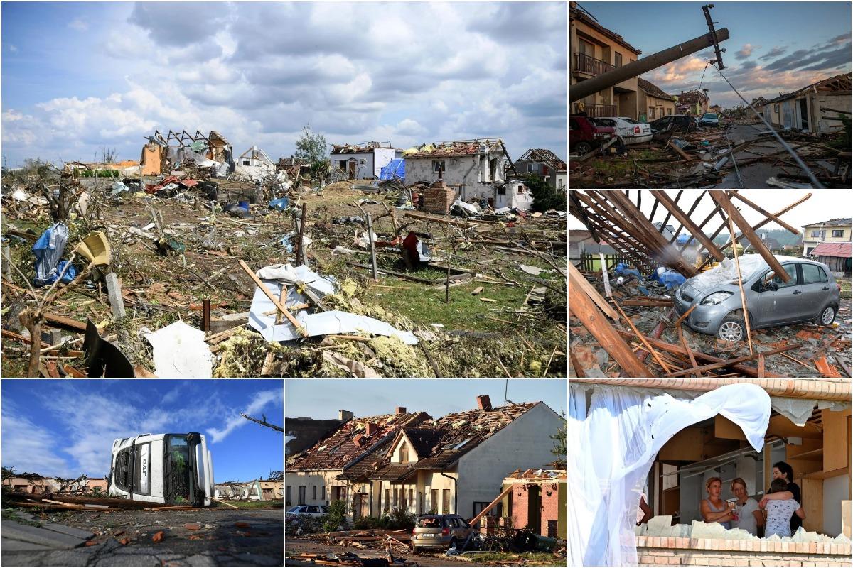 Последствия торнадо на юге Чехии