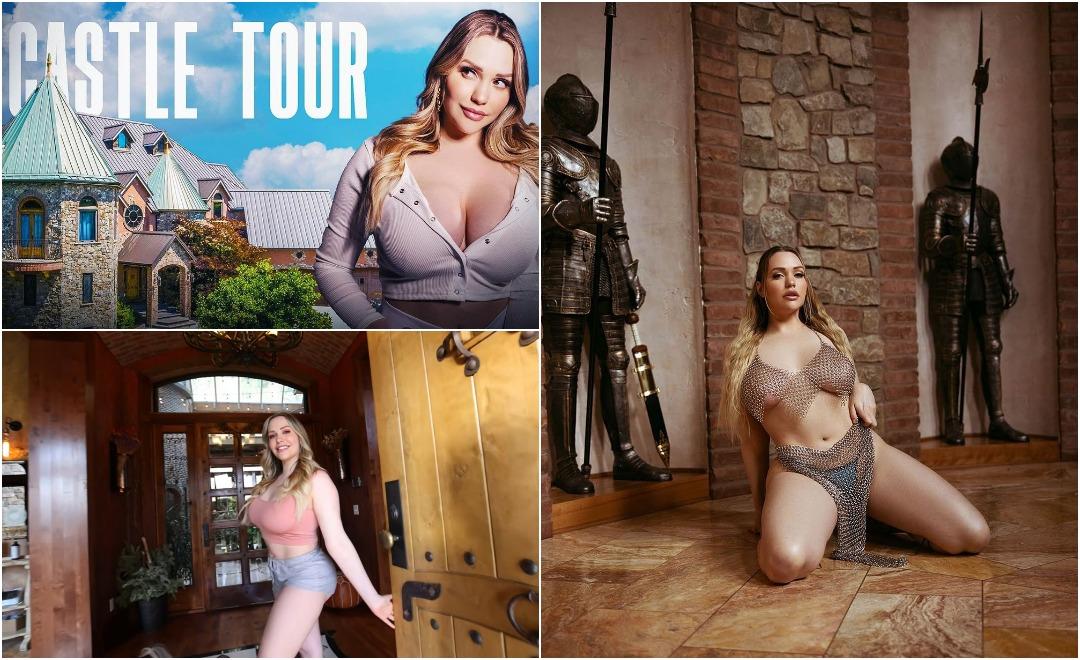 Порнозвезда показала свой замок за $4 млн, где она занимается любимым делом среди доспехов и фресок