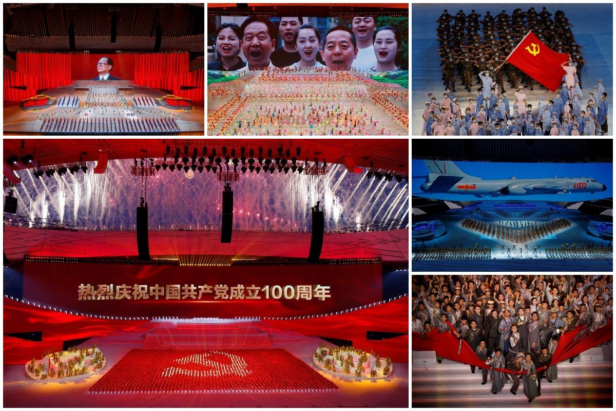 Грандиозное шоу в честь 100-летия Коммунистической партии Китая