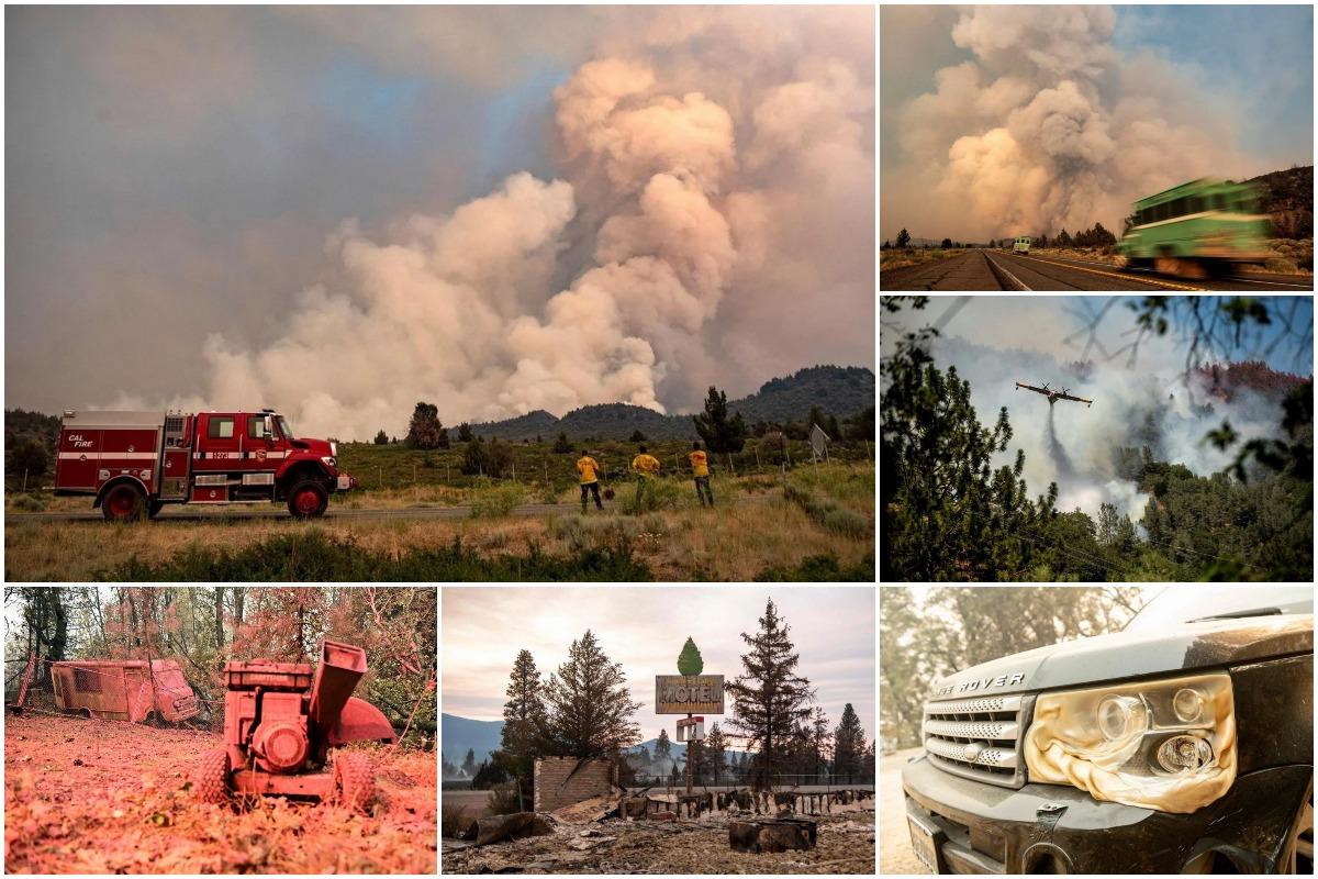Пожары опустошают туристические объекты Калифорнии в праздничные выходные