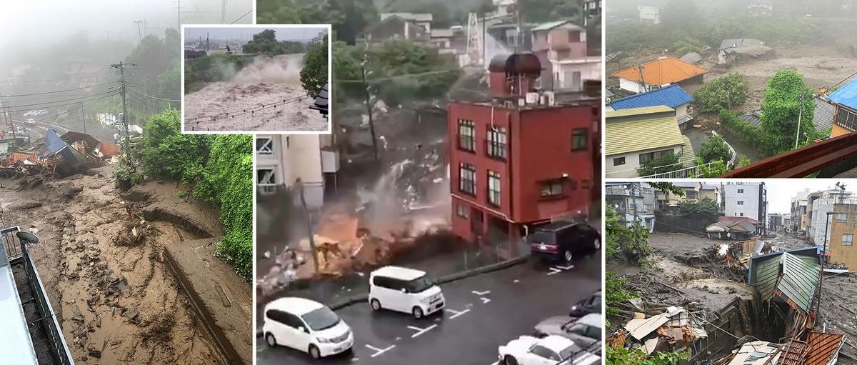 2 человека погибли, 20 пропали без вести: страшный оползень в Японии
