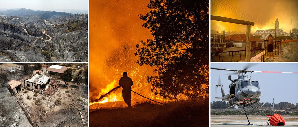 Самые разрушительные пожары в истории острова оставили след опустошения на Кипре и убили 4 человека
