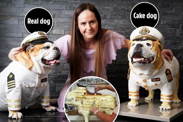 Хозяйка пса заказала торт за £3 000 в натуральную величину своего любимца