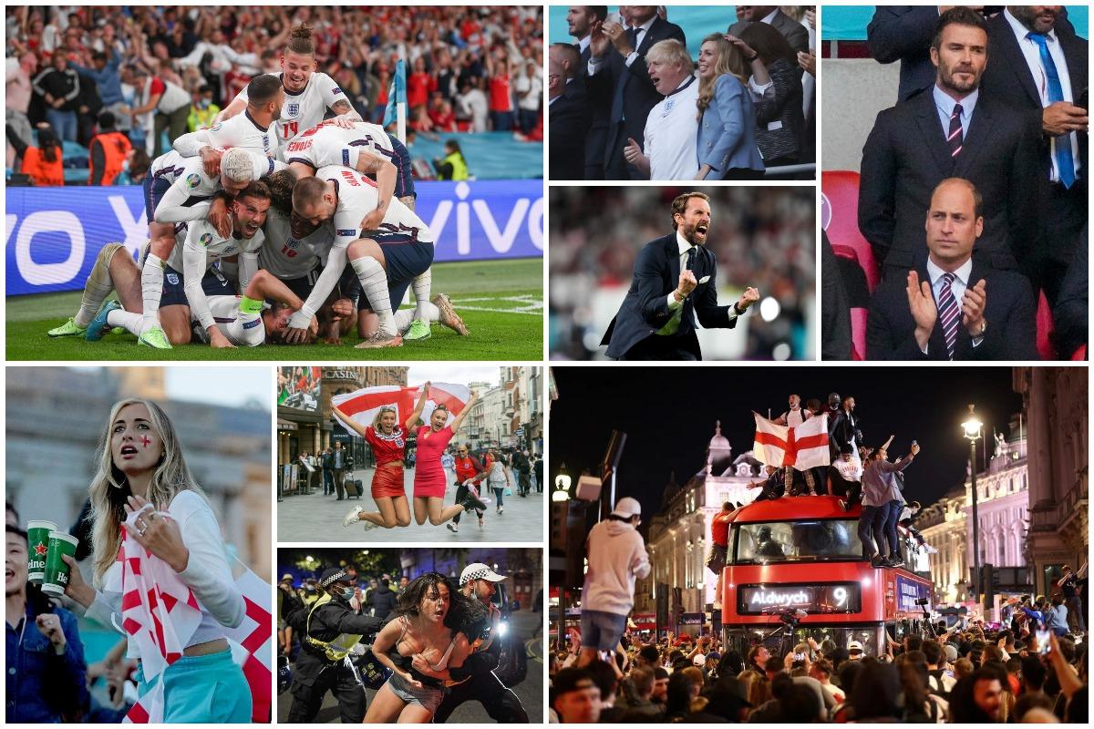 Английские болельщики бурно отметили победу своей сборной по футболу на Евро-2020