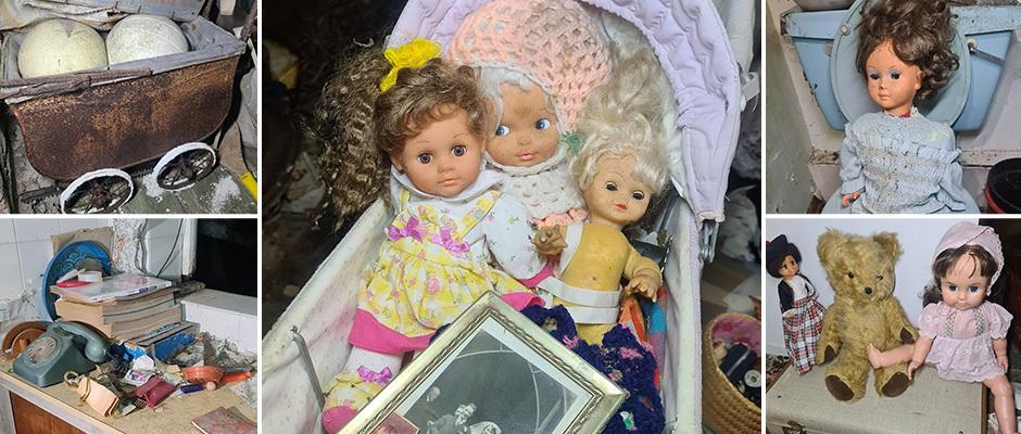 Жуткий заброшенный фермерский дом с куклами и завтраком на столе