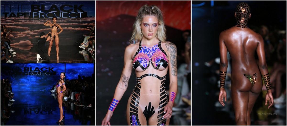 Модели продемонстрировали бикини из изоленты на Неделе пляжной моды в Майами