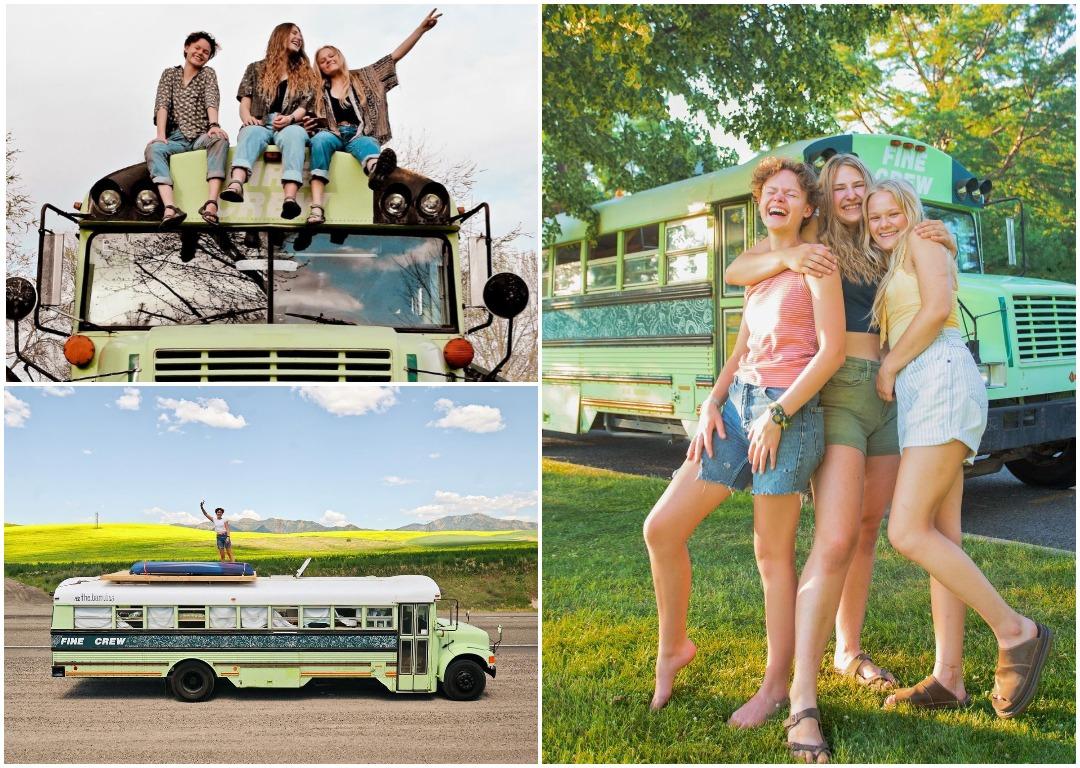 Девушка нашла двух любовниц своего парня, купила старый школьный автобус, и увезла их в путешествие