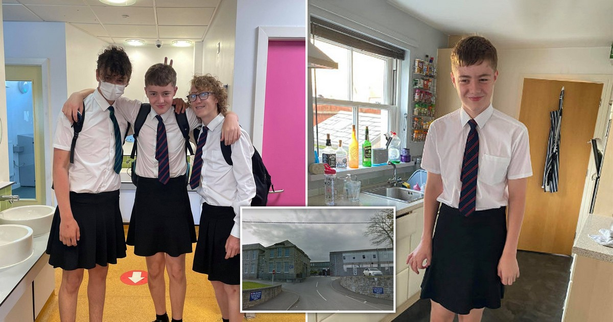 Британские ученики пришли в школу в юбках из-за запрета носить шорты в жару
