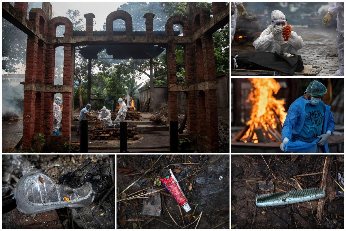 Шарф и гребень показывают изменения в индуистских обрядах кремации